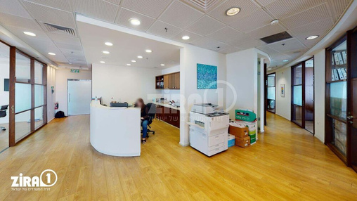 משרד בבניין REIT 1 - רוטשילד 3 - מגדל פסגות   קומה 7   שטח 350מ״ר    תמונה #9 - 1