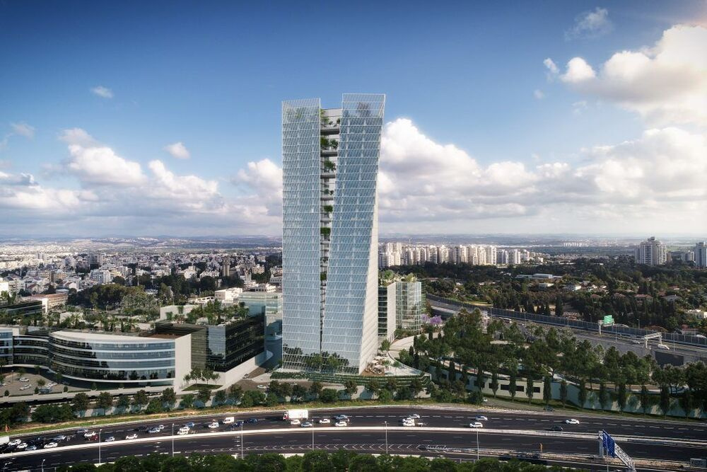 פרויקטים בהקמה אינפיניטי פארק-בניין אינפיניטי טאוור ברעננה | רמת הבניין classA | תמונה #0 - 1